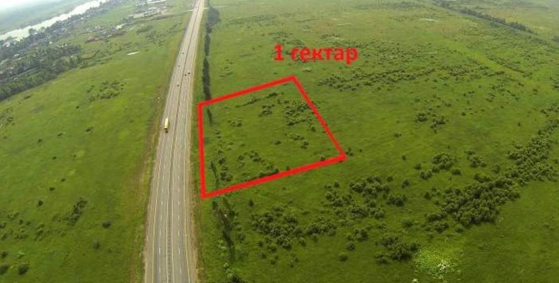 1 гектар на карте