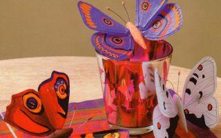 Поделка бабочка из бумаги, картона, ткани —  фото идея, мастер-классы, советы