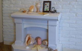 Камин своими руками декоративный из коробок — пошаговая инструкция