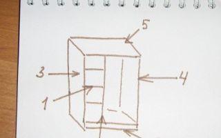 Шкаф для Барби, подробная инструкция с детальным описанием