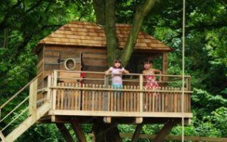 Домики на дереве (136 фото): шалаш и другие, как сделать его для детей своими руками, проекты, строительство по чертежам