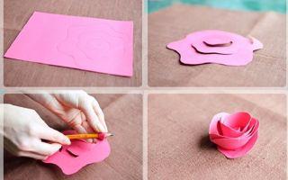 Роза из бумаги своими руками: 90 фото и красивых идей