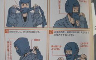 Маска ниндзя: как самостоятельно сделать маску ниндзя, оружие черепахи майка из бумаги
