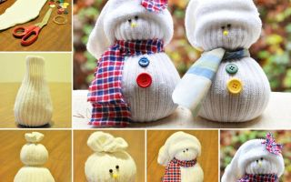 Поделка снеговик своими руками: фото лучших идей + пошаговая инструкция для начинабщих