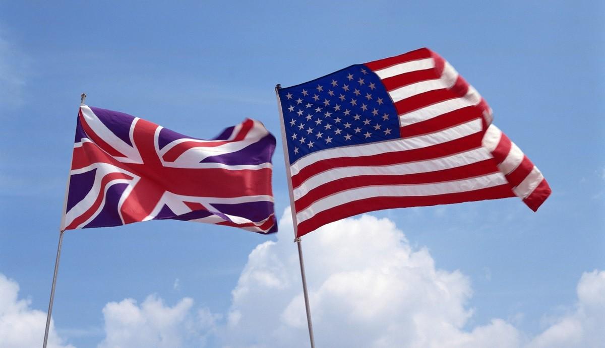Флаги Британии и США