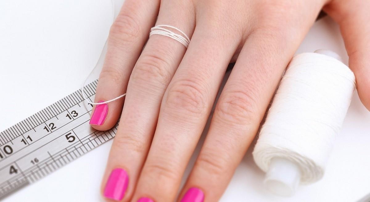 Измерение размера кольца ниткой